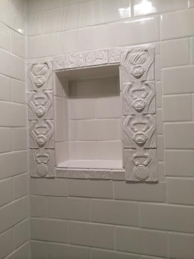 shower niche detail
