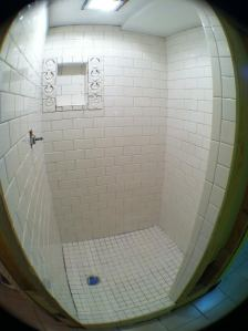 shower tiles installed