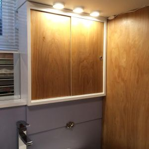 cabinet with lights